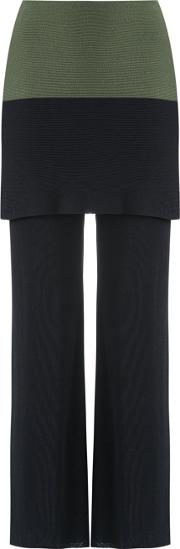 Knitted Trousers Women Viscose M, Black