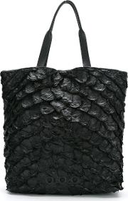 Leather Tote Bag Women Fisher One Size, Black