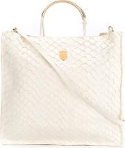 Leather Tote Bag Women Fisher One Size, Nudeneutrals