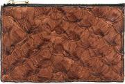 Leather Wallet Women Fisher One Size, Brown