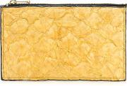 Leather Wallet Women Fisher One Size, Yelloworange