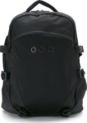 Panelled Backpack Men Polyester One Size, Black
