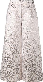 Brocade Culottes Women Silkpolyester 8, Grey