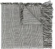 Fringed Houndstooth Scarf Men Cottonlinenflax One Size, Grey