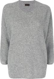 Oyuna Cropped Sleeve Pullover Women Cashmere One Size, Grey