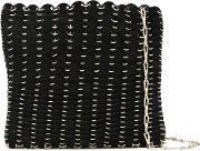 Ring Chain Shoulder Bag Women Leathermetal One Size