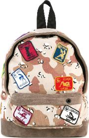 Camouflage Backpack Men Cottonsuede One Size, Nudeneutrals