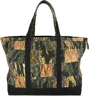 Camouflage Print Tote Men Cotton One Size