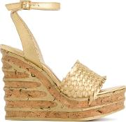 Paloma Barcelo Woven Wedge Sandals