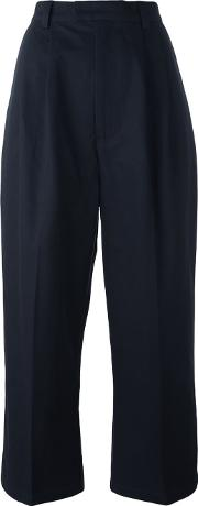 'tie Up Pike' Trousers Women Cotton Xs, Blue