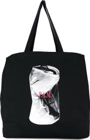 Watf Tote Women Cotton One Size, Black