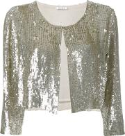 Cropped Sequin Cardigan