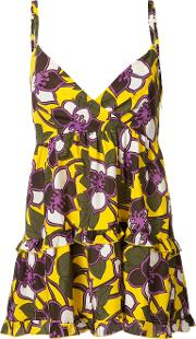 Flared Floral Camisole Top