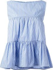 P.a.r.o.s.h. Cotory Striped Blouse Women Cotton S, Blue