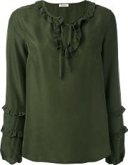 P.a.r.o.s.h. Sia Blouse Women Silk L, Green