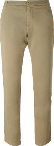 P.a.r.o.s.h. Slim Fit Cropped Trousers Women Cottonspandexelastane M, Nudeneutrals