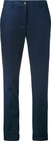 P.a.r.o.s.h. Tailored Trousers Women Cottonspandexelastane M, Blue