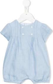 Double Breasted Romper Kids Cottonlinenflax 3 Mth, Infant Boy's, Blue