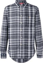 Checked Shirt Men Cottonlinenflax M, Black