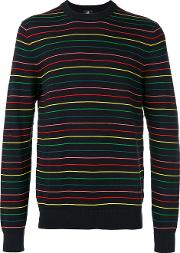 Striped Jumper Men Cottonnylon Xl, Black