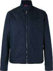 Zipped Jacket Men Cottonnylonviscose S, Blue