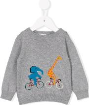Cycling Intarsia Jumper Kids Cottoncashmere 6 Mth, Infant Boy's, Grey
