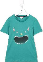 Monster Print T Shirt Kids Cotton 10 Yrs, Green