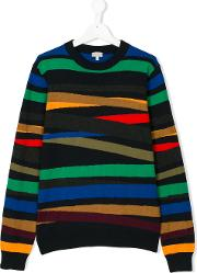Paul Smith Junior Striped Sweater Kids Cottoncashmere 14 Yrs, Blue