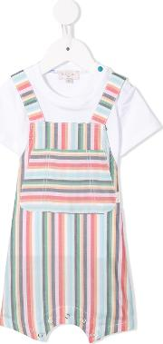 Striped Dungaree Shorties