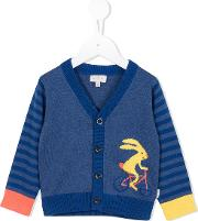 Striped Printed Cardigan Kids Cotton 9 Mth, Blue