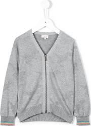 Zipped Cardigan Kids Cotton 6 Yrs, Grey