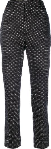 Spotted Trousers Women Cottonspandexelastane 44, Black