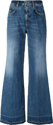 People Wide Legged Jeans Women Cotton 26, Blue