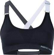 Strapped Sports Bra Women Spandexelastanepolyimide M, Black