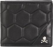 Philipp Plein Barney Pocket Wallet Men Calf Leather One Size, Black