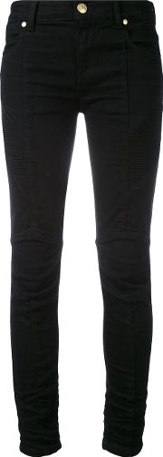 Biker Jeans Women Cottonspandexelastane 28, Black