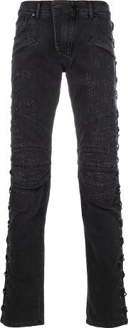 Criss Cross Detail Jeans