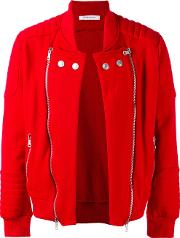 Quilted Detail Jacket Men Cottonpolyester 46, Red