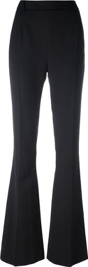 Zip Back Flared Trousers