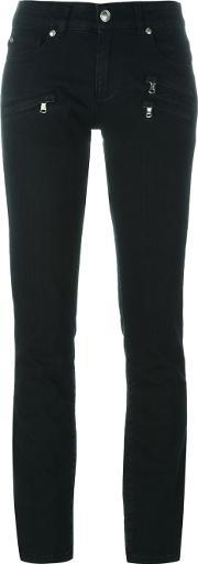Zipped Pocket Skinny Jeans Women Cottonpolyester 26