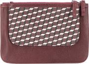 Patterned Clutch Bag Women Leather
