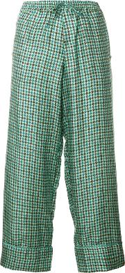 Pierre Louis Mascia Cropped Tailored Trousers Women Silk M