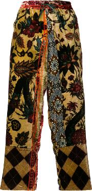 Pierre Louis Mascia Embroidered Cropped Trousers Women Silkviscose M