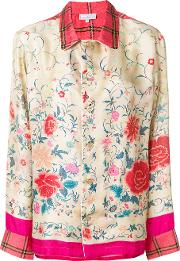 Pierre Louis Mascia Floral Embroidered Blouse