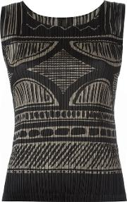 'painted Pottery' Tank Women Polyester 3, Black