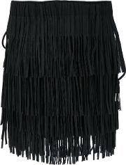 Fringed Tote Women Polyestercottonbrass One Size, Black