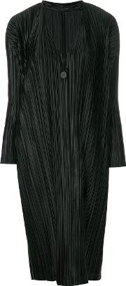 Long Pleated Cardigan