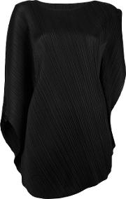 Pleated Blouse Women Polyester 5, Black