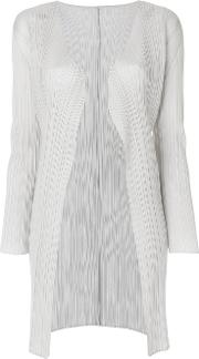 Pleated Fitted Cardigan