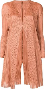 Pleated Long Cardigan